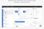 Capture d'écran pour HelpCrunch : Shared team Inbox