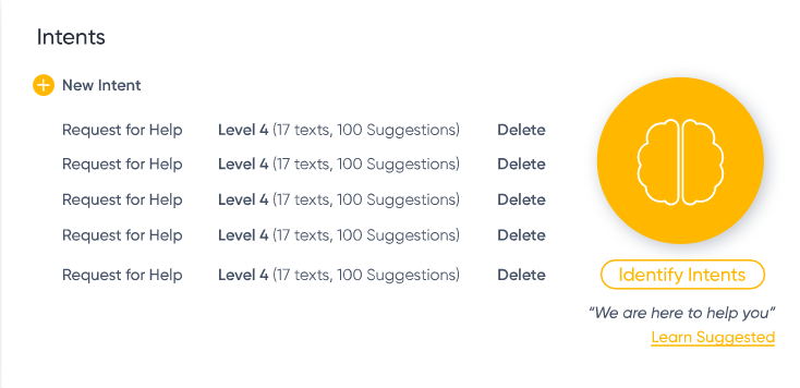 CommBox define intents screenshot