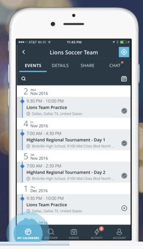 Create and share a team calendar