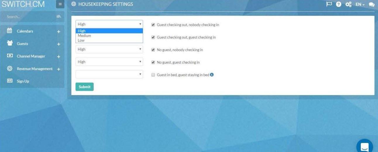 SWITCH.CM housekeeping settings