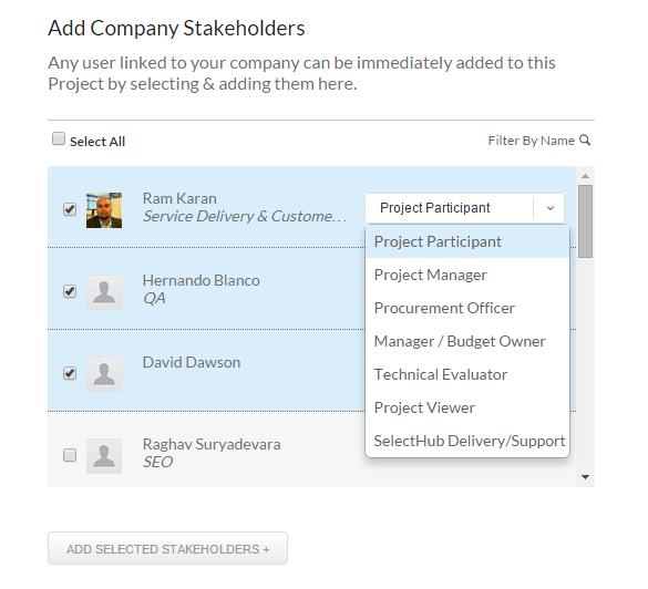 RequirementsHub managing stakeholders