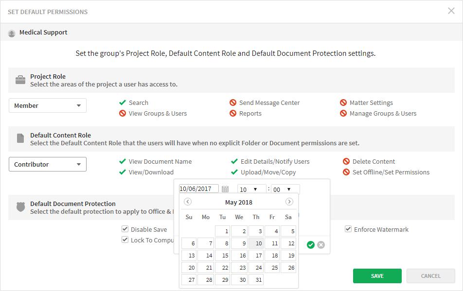 Firmex Virtual Data Rooms User permission