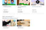 LEARN screenshot: Course catalogues