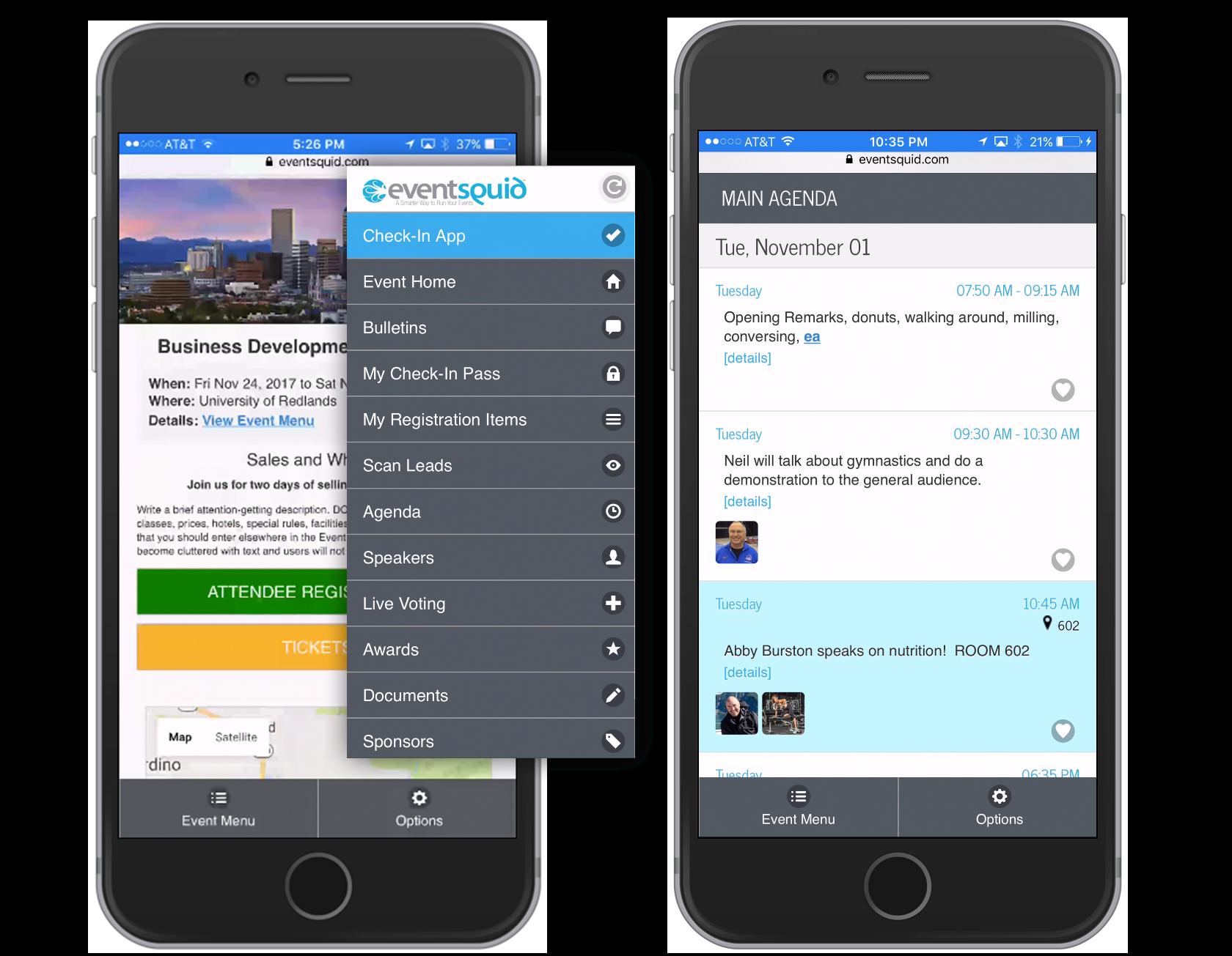 Eventsquid Software - Mobile app