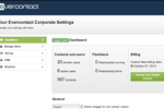 Evercontact screenshot: Have a look in the administration dashboard.