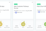 SurveyMonkey CX screenshot: Monitor and optimize customer satisfaction at all relevant interaction points - from purchase to onboarding to post service requests and more