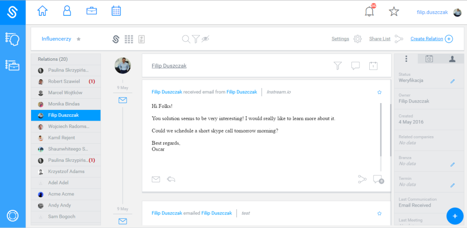 Add comments & events to emails