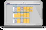 eSchedule screenshot: Customized schedule templates — units / shifts / shift times / departments