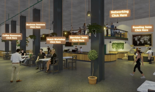 Organizations are looking for a more engaging way to train and educate employees and clients. Setting up permanent virtual rooms that have on demand content, rooms that host live sessions with influencers, networking lounges and e-commerce.
