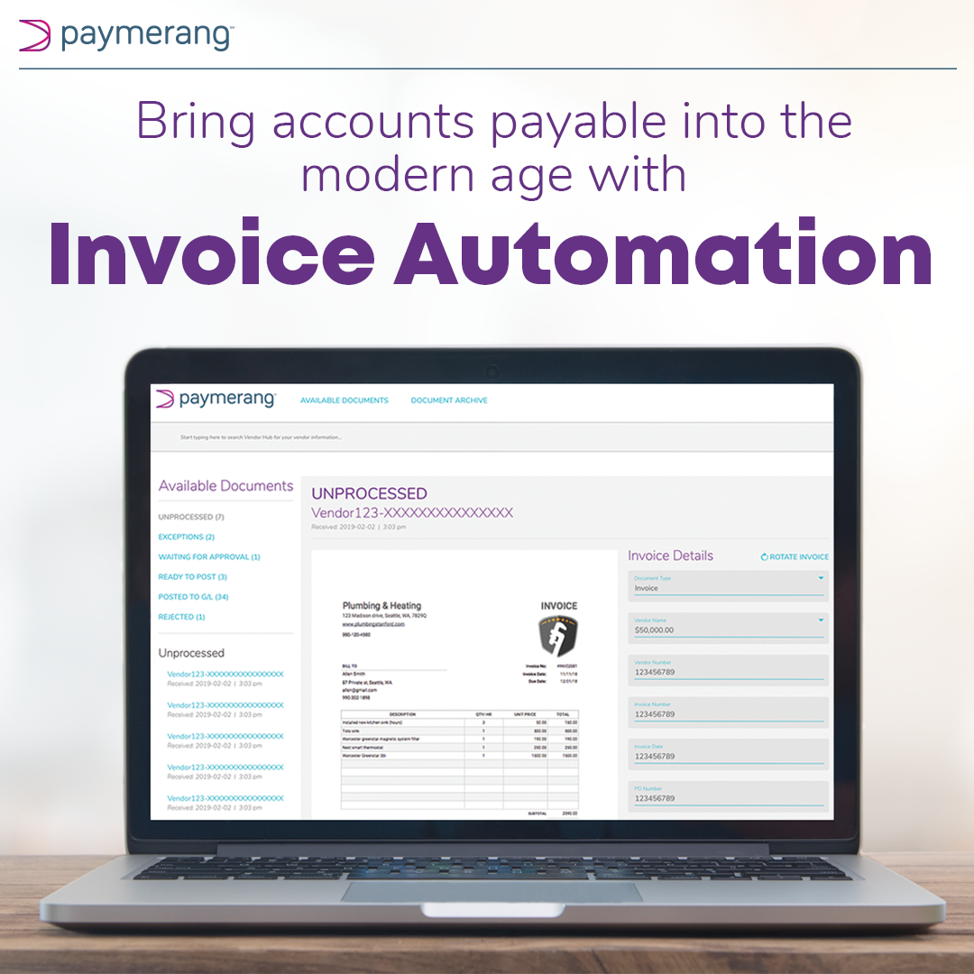 Paymerang invoice automation