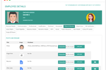 Officekit screenshot: Access employee details such as contact info, qualifications, resume, and more