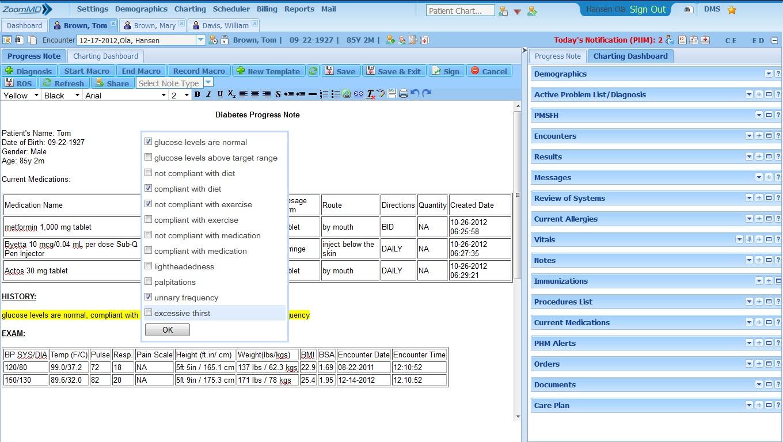 ZoomMD Software - Progress Notes
