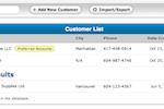 SalesBinder screenshot: SalesBinder data import/export