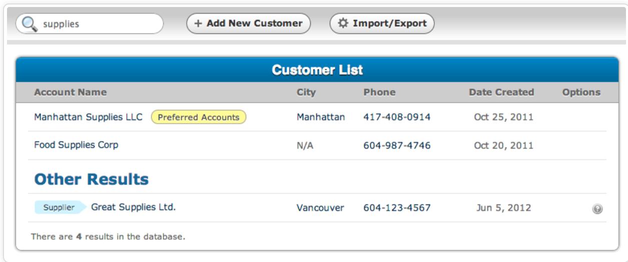 SalesBinder data import/export