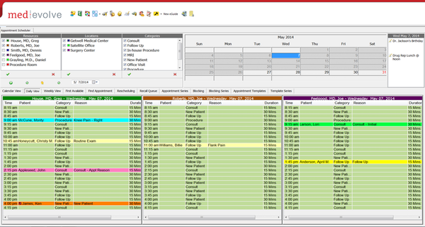 MedEvolve scheduling tool