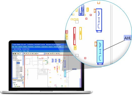 FacilityONE Software - Mapped Physical Assets