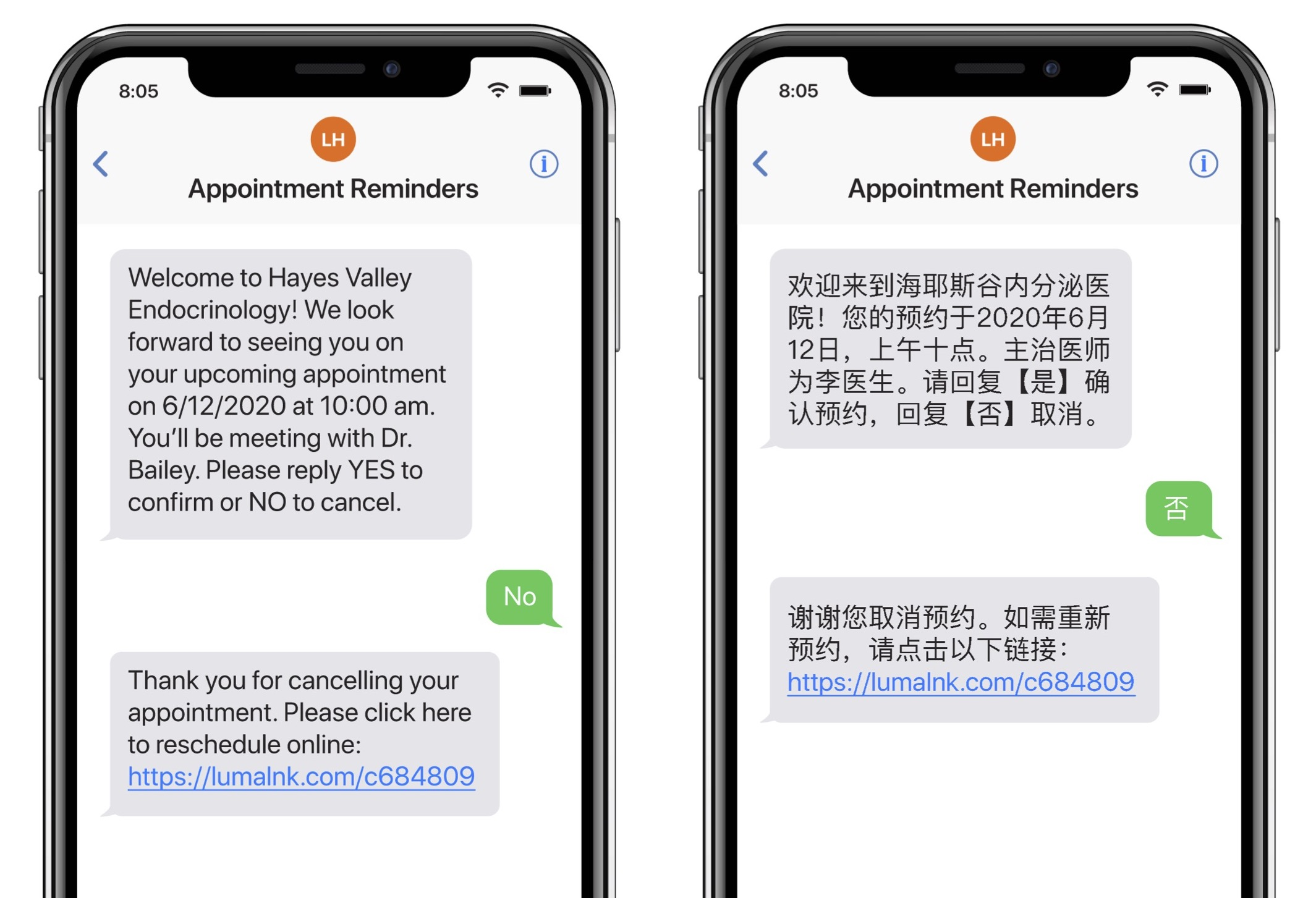 Luma Health Appointment Reminders