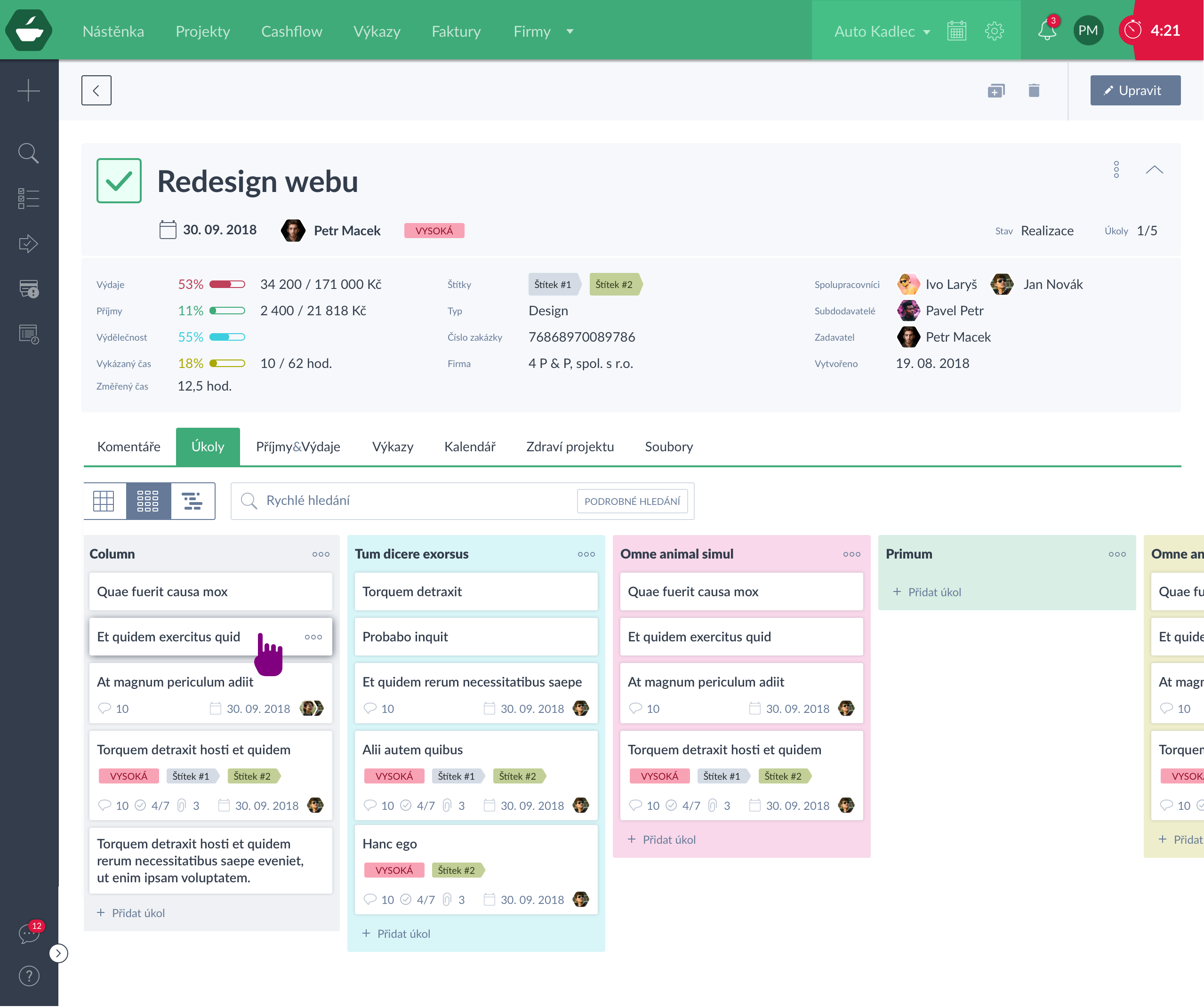 Manage projects
