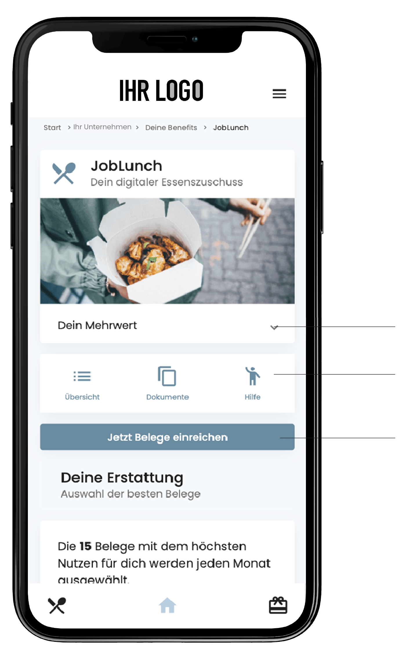 Meal vouchers for employees