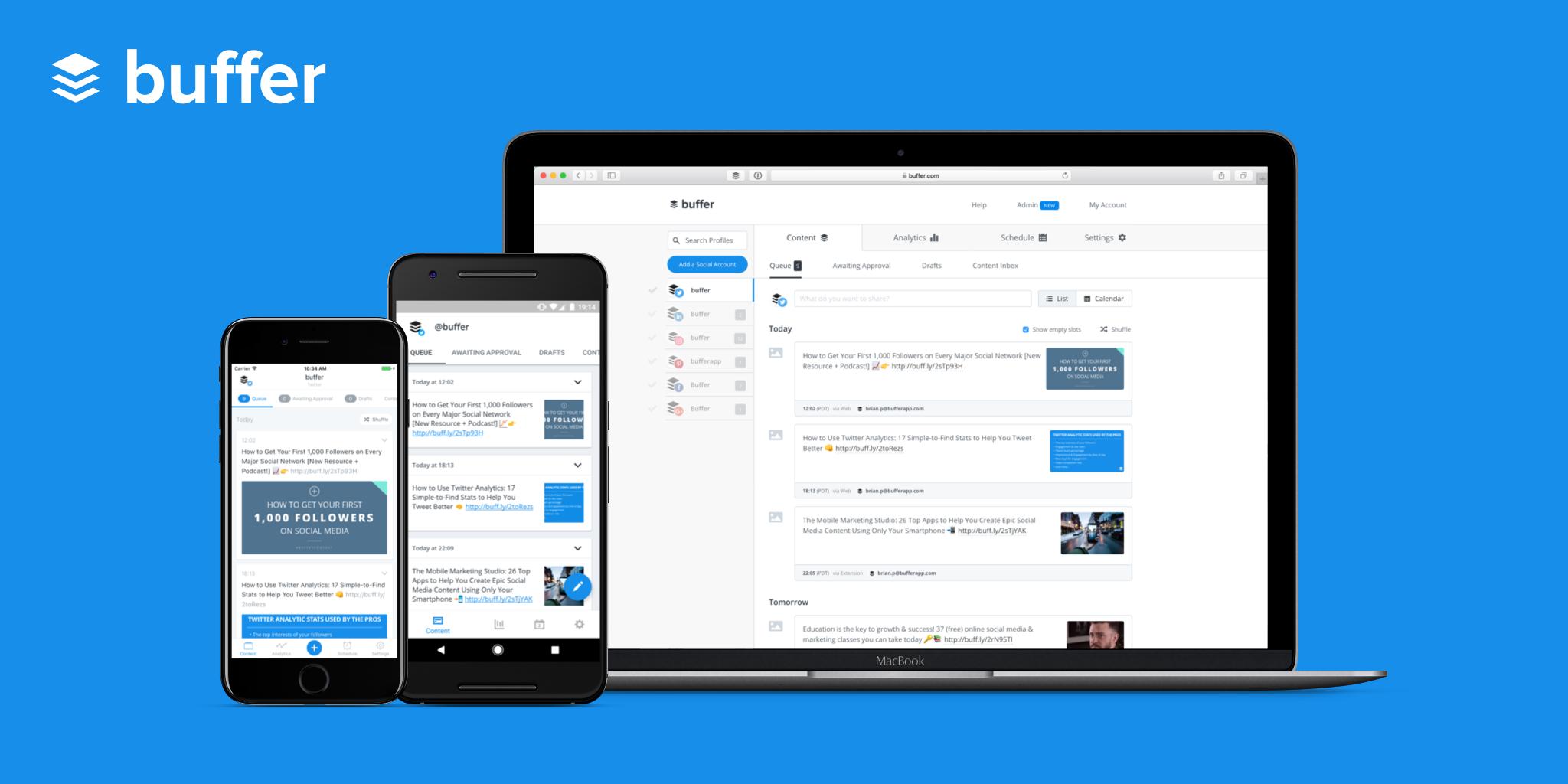 Buffer screenshot: Buffer web and mobile apps