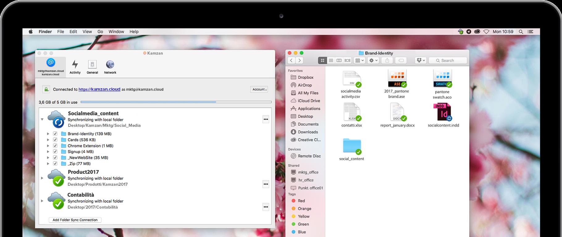 Kamzan screenshot: Kamzan folder view