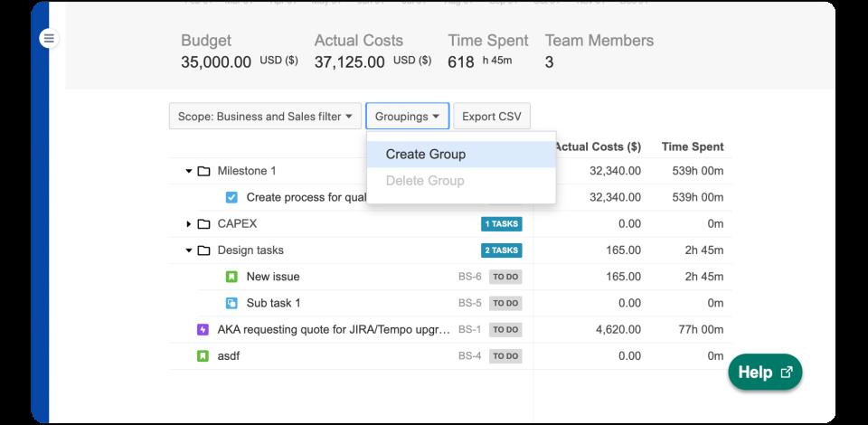 Tempo Cost Tracker Software - 2