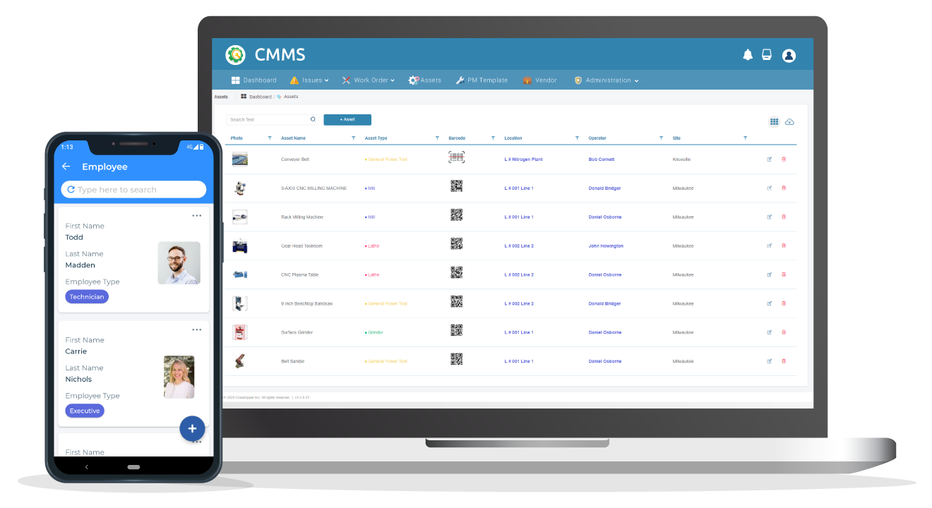 CloudApper CMMS dashboard