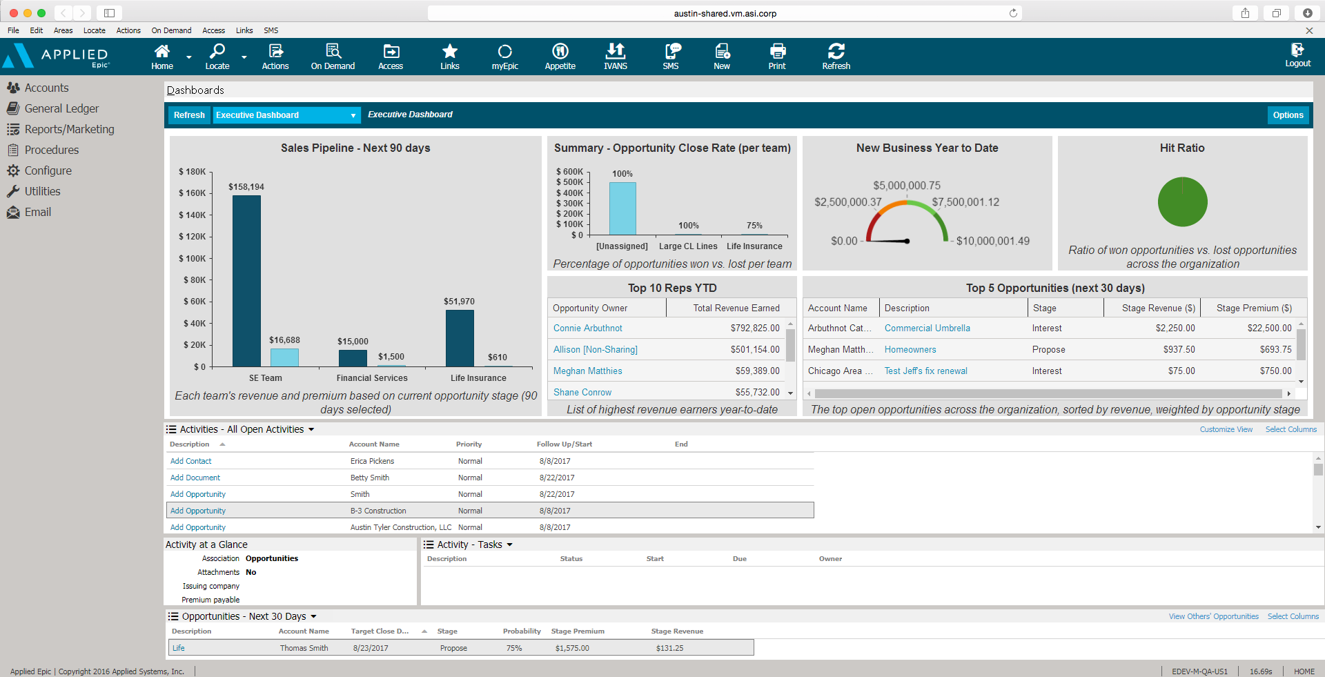 Applied Epic Software - Applied Epic Dashboard