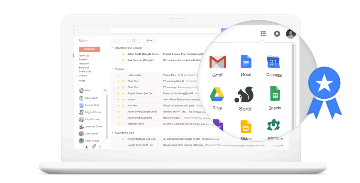 Organize sales tasks from within Gmail