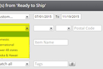 Captura de tela do ShipRush: Select shipment location