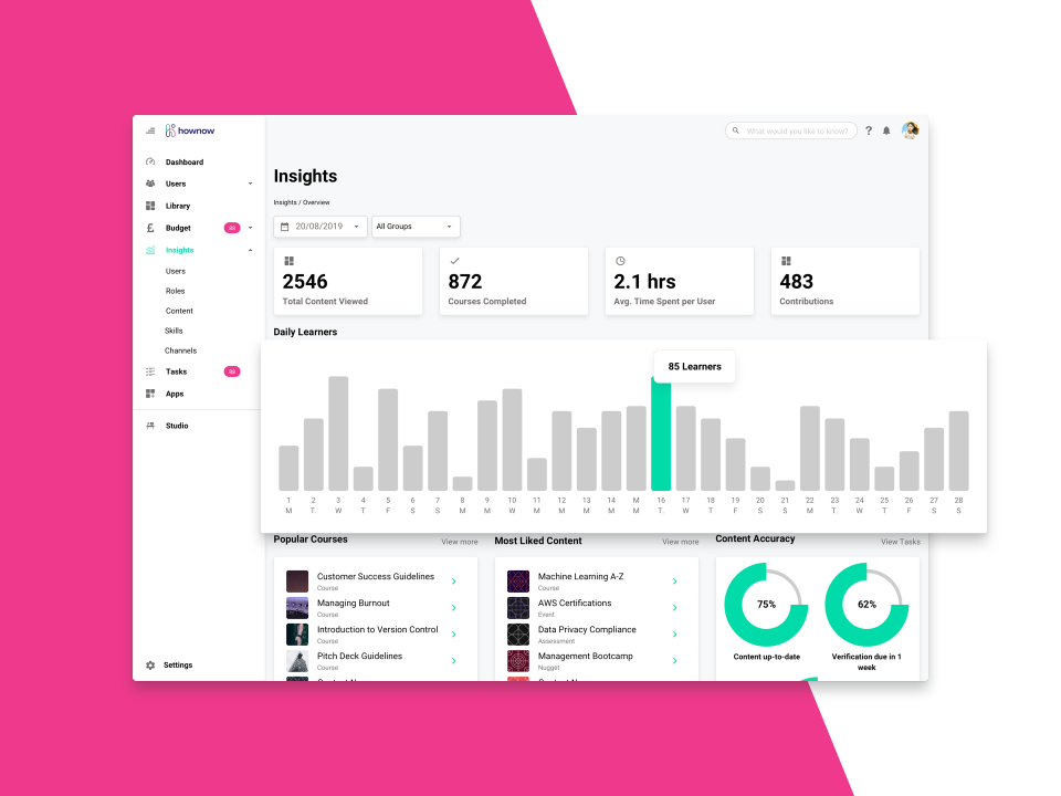 HowNow Software - Real-time analytics