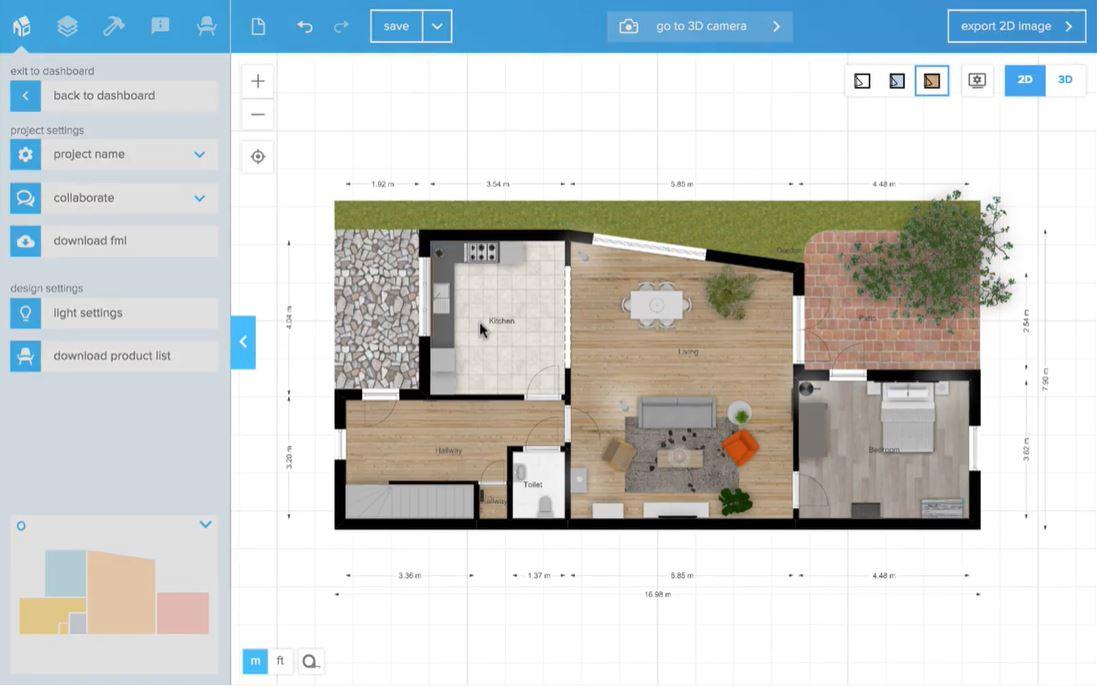 Floorplanner main interface