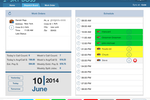 SkyBoss screenshot: Improve the efficiency of dispatch with the ability to schedule technicians and work orders based on required skill levels