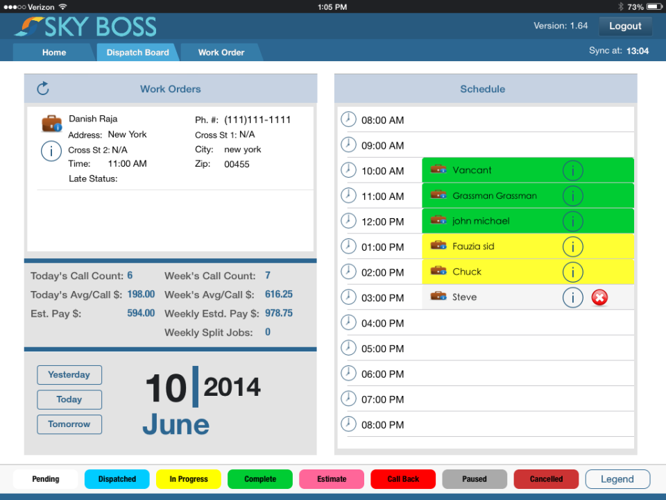 Improve the efficiency of dispatch with the ability to schedule technicians and work orders based on required skill levels