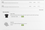 TicketSpice screenshot: Users can sell merchandise alongside their event tickets with TicketSpice