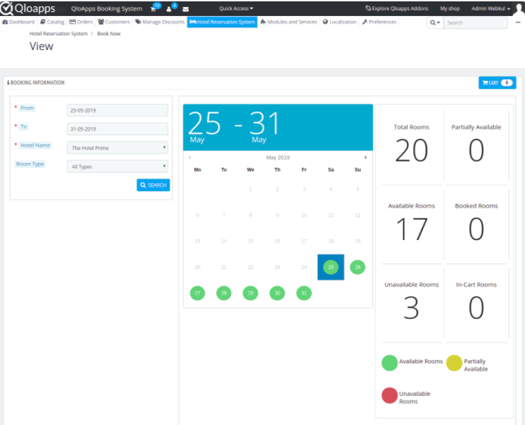 QloApps booking management