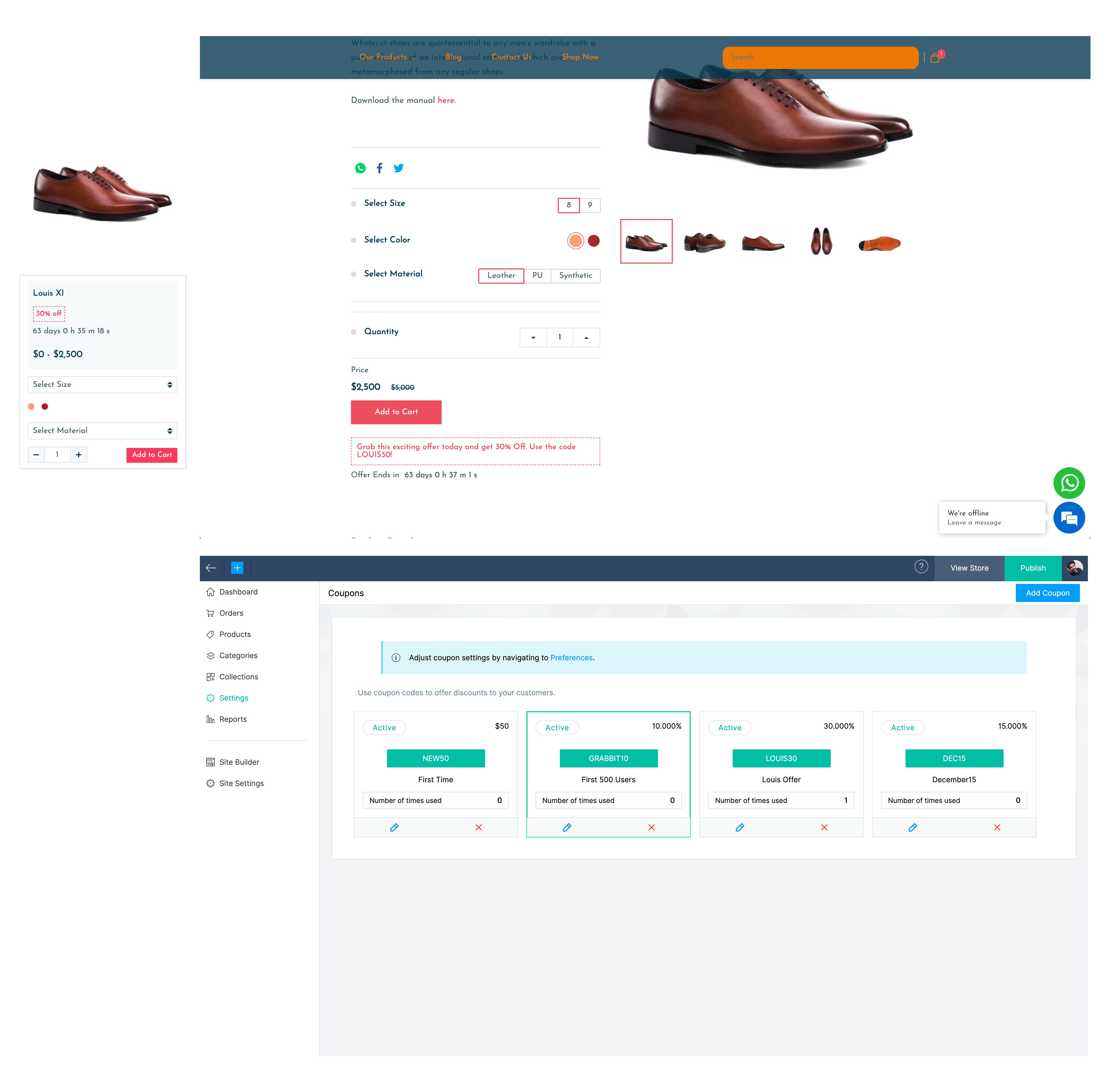 Zoho Commerce online store