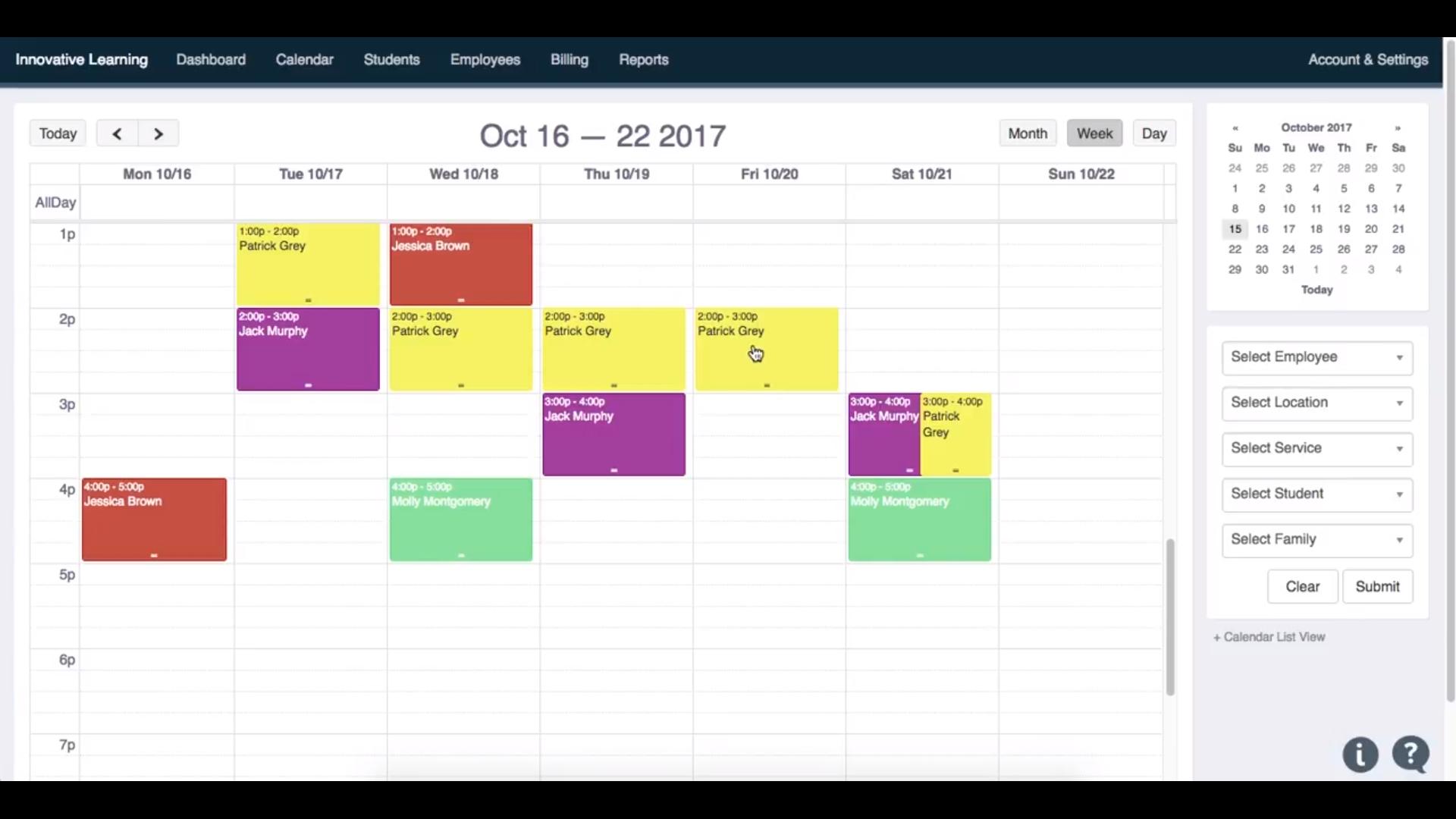 Teachworks weekly schedule