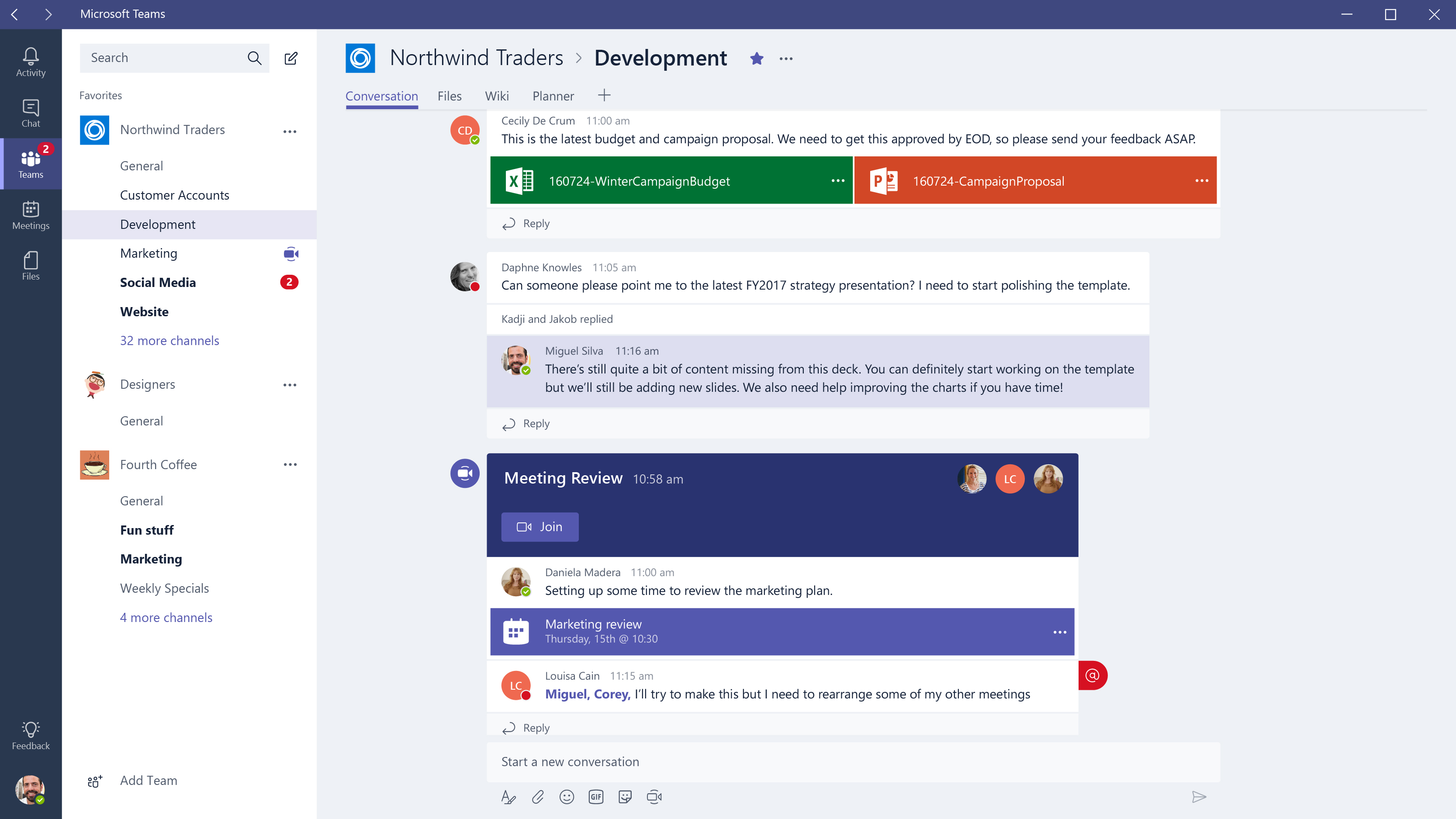 Microsoft Teams Dashboard