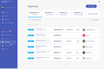 Shortlist screenshot: Process payments and manage invoices