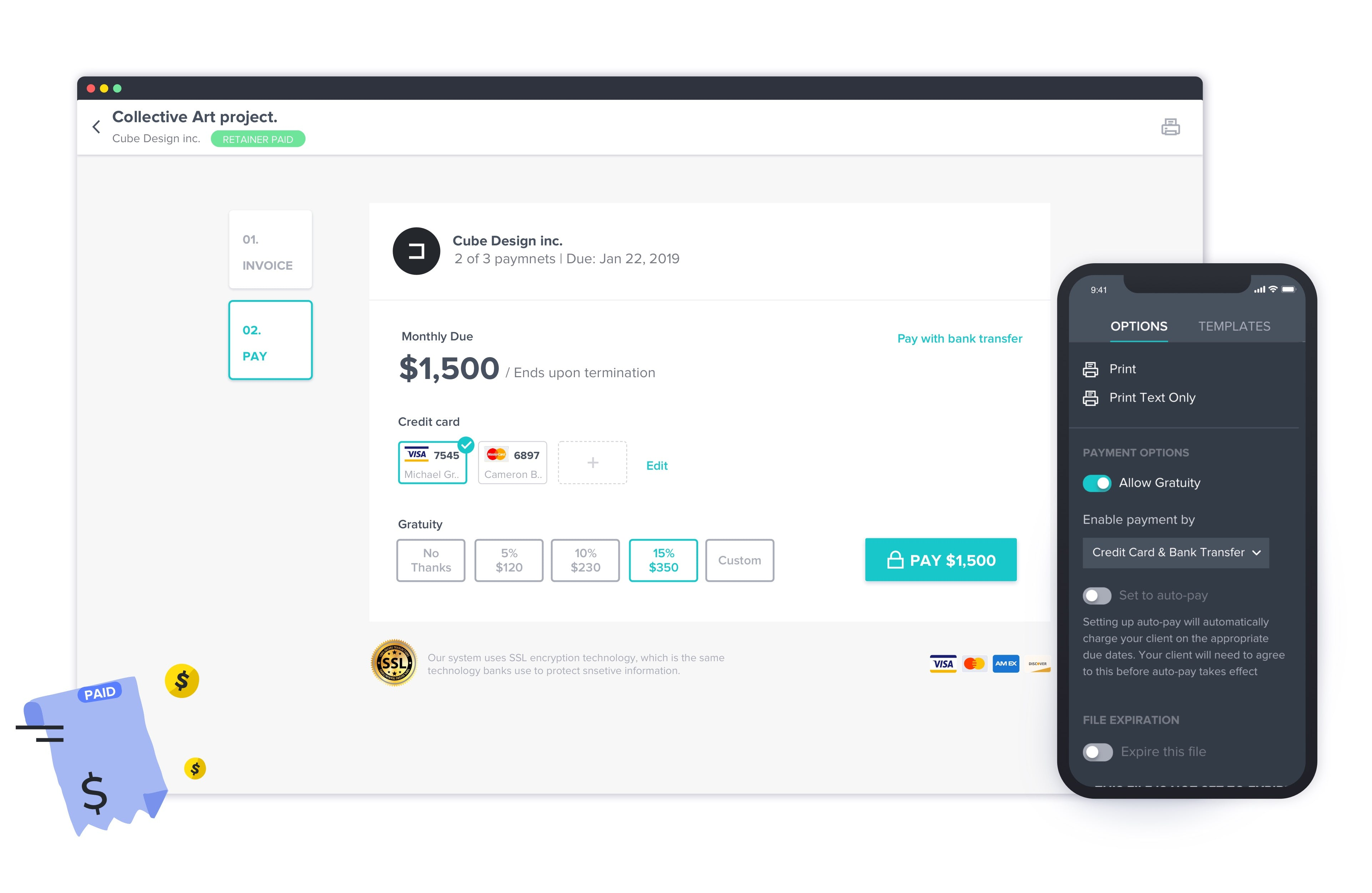 HoneyBook Software - HoneyBook payment page