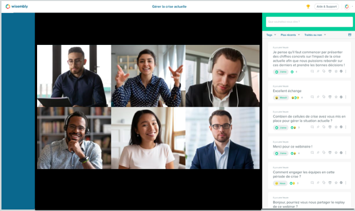 Wisembly video conference