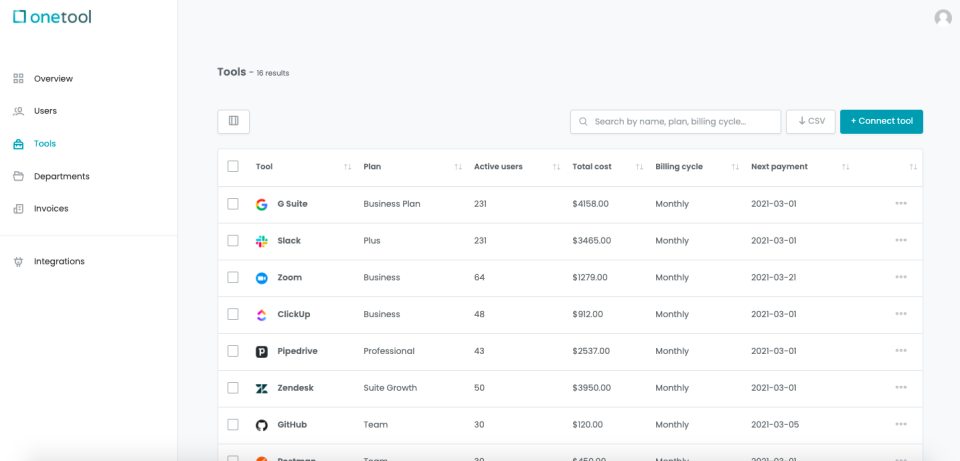 onetool tools overview