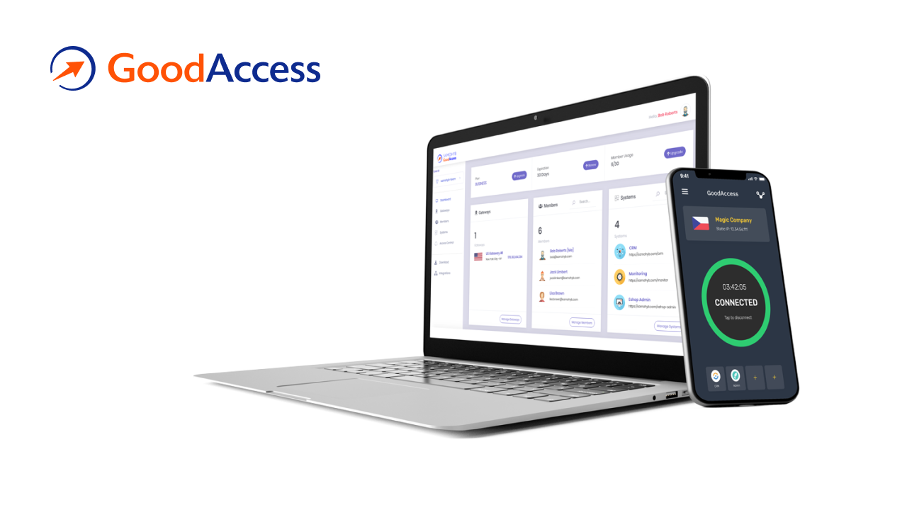 Access your private network with static IP from any device. It takes one-click to connect from Windows, macOS, Android, and iOS GodAccess apps. You can also use manual IKev2 / OpenVPN configuration to connect all your devices.