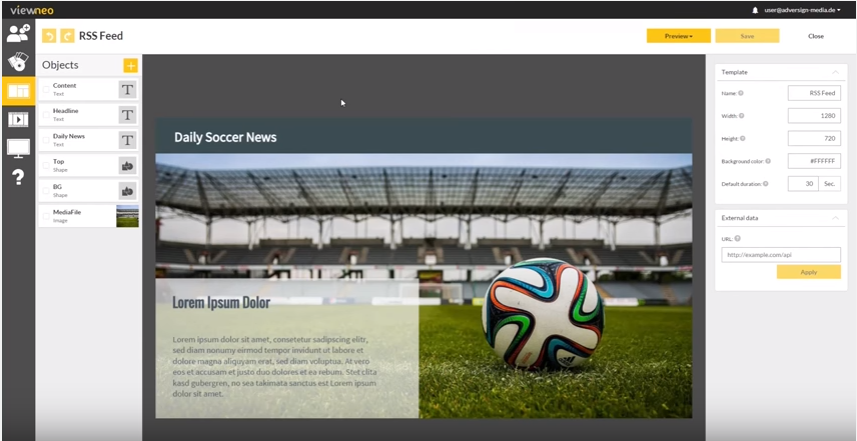 RSS feed integration