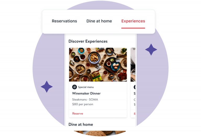OpenTable - experiences