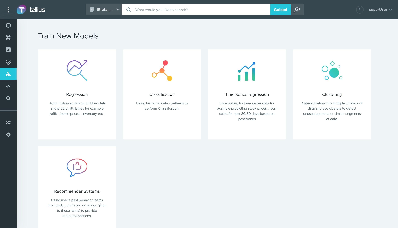 Tellius Software - No-Code machine learning module