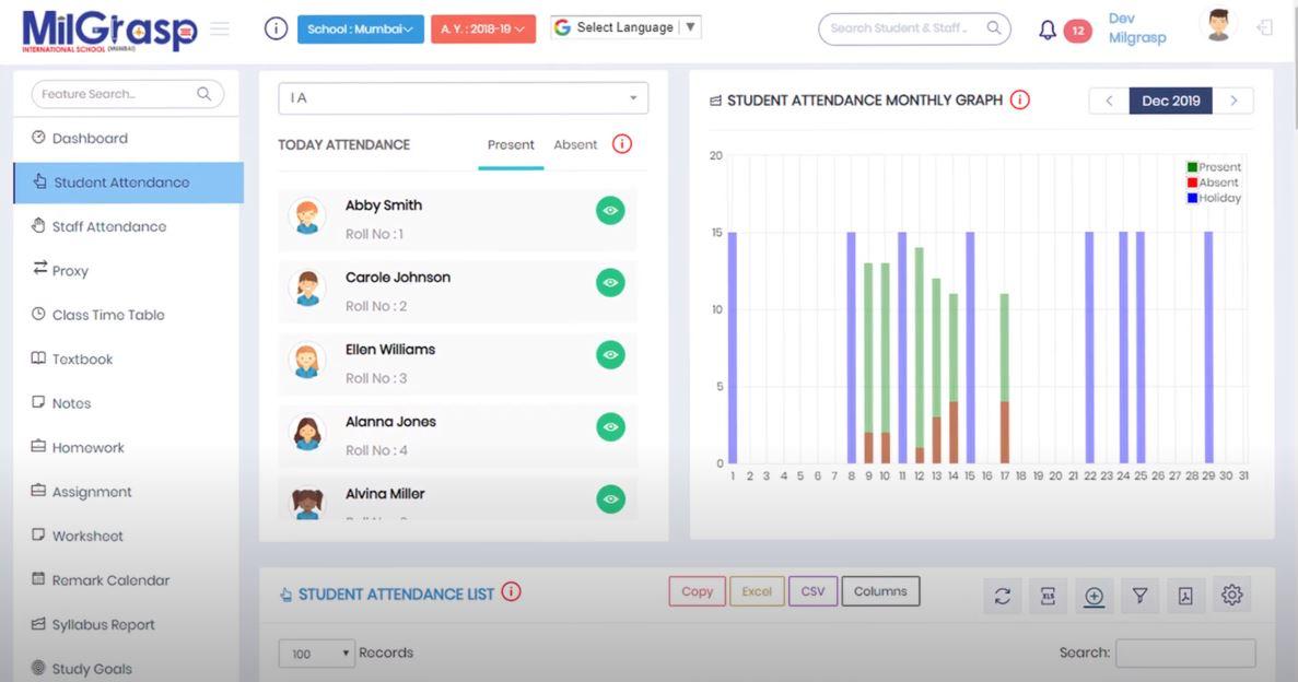 MilGrasp attendance tracking