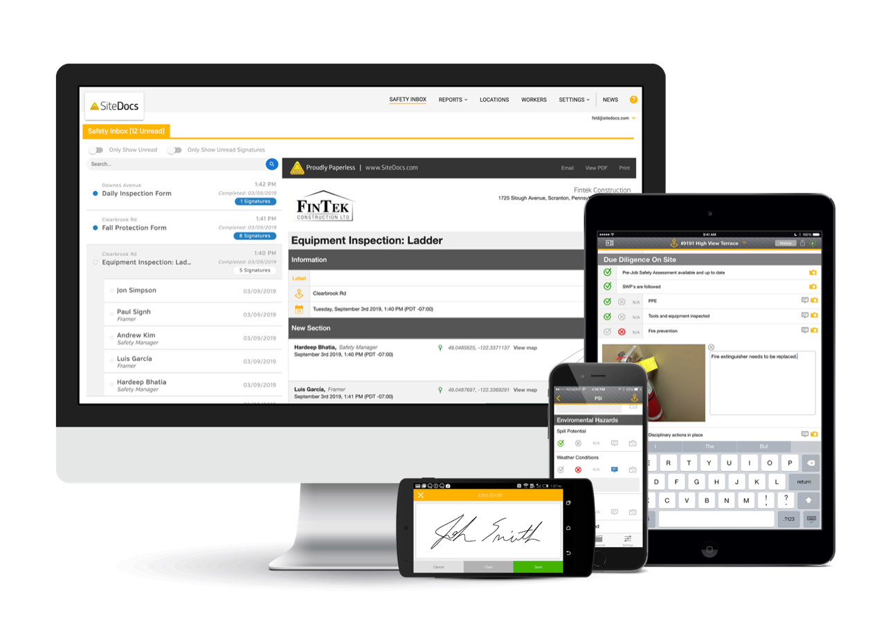 SiteDocs Software - SiteDocs Safety Software