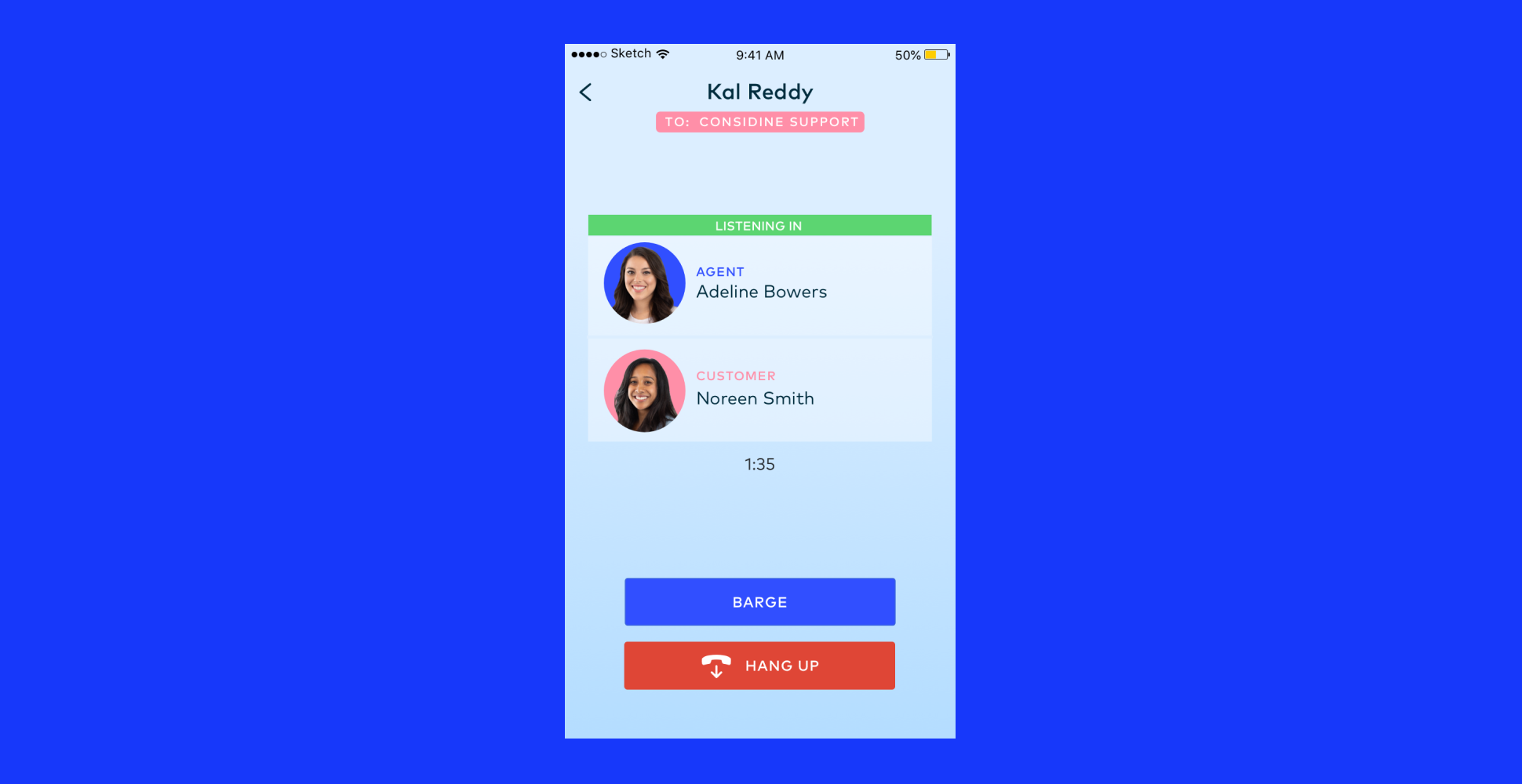 Dialpad Software - Active mobile call